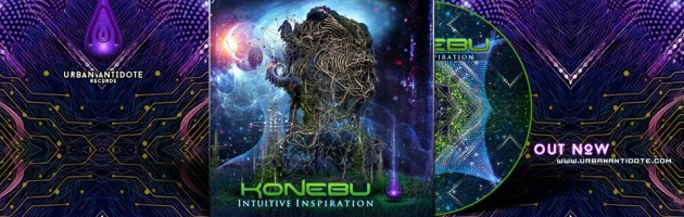 "Konebu debut album Intuitive Inspiration is ""Out Now"""